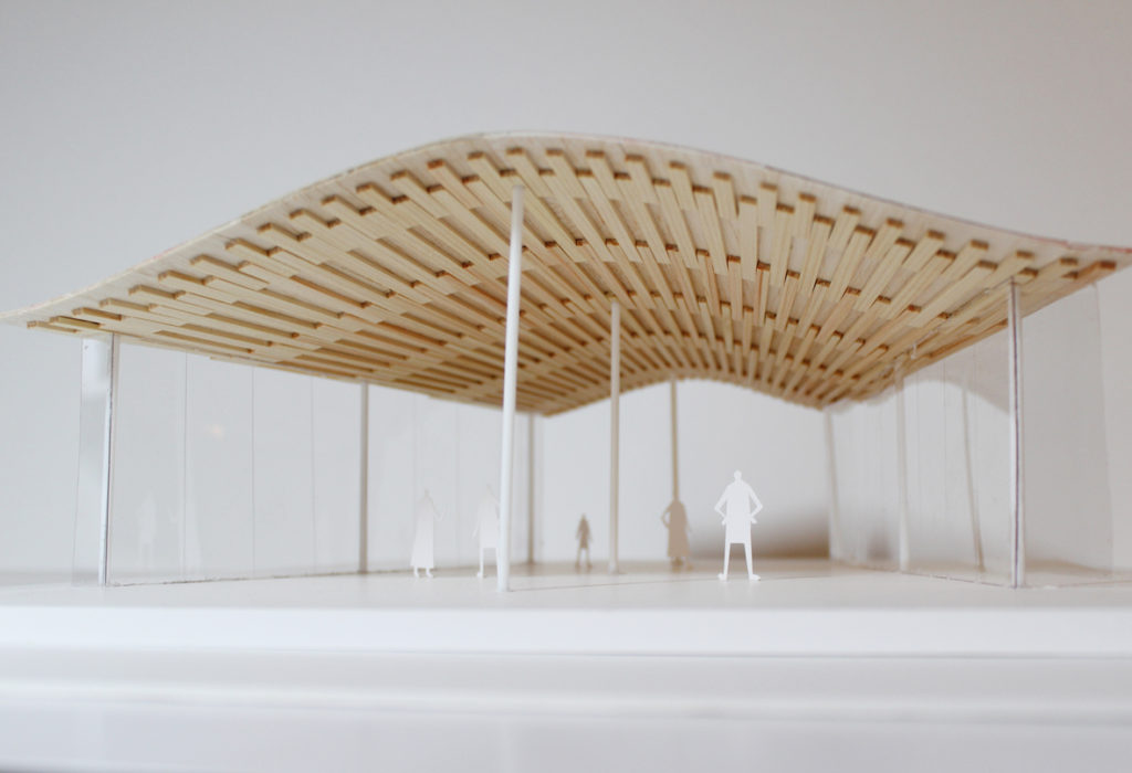 道の駅北郷/架構模型を作りました。