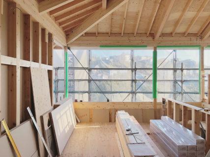 鎌倉山の住宅 中間検査