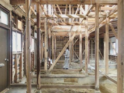 北白川のアパートメント 内部解体完了